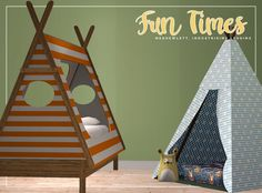 More Spring Cleaning. Fun Times: • Dream Tent - 555 Polys • Kitty Pillow - 2776 Polys • Teepee Bed - 1837 Polys Files are compressed and a texture folder is included. There will be clipping when sims get into the tent bed and I wouldn't recommend...