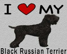 I Love My Black Russian Terrier Cutting Board - Great For Kitchens by MyHeritageWear. $34.95