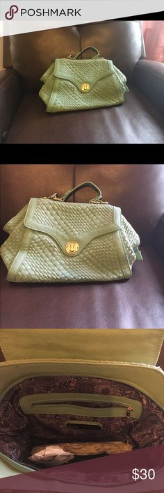 Pastel green Straw material bag. Nwot Never used pastel green hand bag or crossbody bag. Urban Expressions Bags Satchels