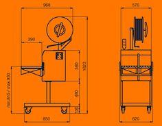 2400 Flejadora semi-automática lateral inoxidable