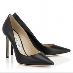 9b942b377c84 Jimmy Choo Romy Pointy Toe Pumps Black Leather Heels Shoes size in  Clothing
