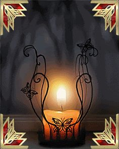 Animated Gif by Lady Moon Light My Candle, Candle Art, Candle Lanterns, Good Night Flowers, Dream Images, Flowers Gif, Romantic Room, Gif Photo, Night Lamps