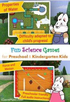 Fun Science Games for Preschool and Kindergarten kids with Max and Ruby #kidsapps #ScienceApps