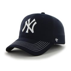 New York Yankees Game Time Closer Navy 47 Brand Stretch Fit Hat