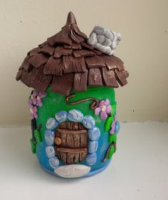 Fairy House with Welcoming Fireplace Polymer by FabTastesQuirky