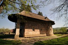 Humor Monastery by Daniel Calin on Romanian People, Dark Forest, Medieval Castle, Bucharest, Historical Sites, Gazebo, Mosques, Cathedrals, Outdoor Structures