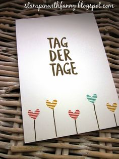 stampin with fanny: Sale-a-Bration: Tag der Tage & Die schönste Zeit - Schnelle Kärtchen