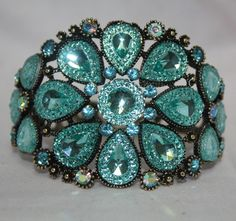 Turquoise jewelled cuff