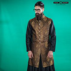 Men usually don't have many choices in what to wear, and almost always go with the simple pure black sherwani. I say break tradition. Get a little festive! Without going overboard, of course. Taste is everything.