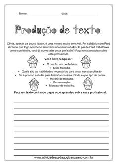 Produção de texto 5º ano - Atividades Adriana