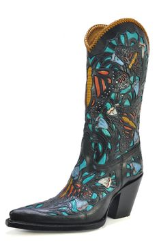 Caiman Monarch Tooled - Handmade Cowboy Boots from Liberty Boot Co