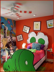 Dr Seuss Nursery Decorating Ideas Cat In The Hat Theme Bedroom Fun Themed Murals Childrens Creative Bedrooms Fantasy Style