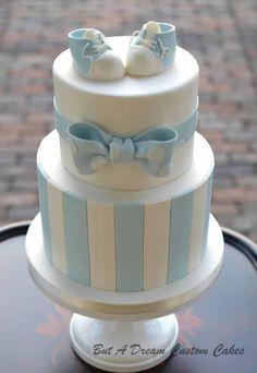 Baby Blue Shower Cake by Elisabeth Palatiello