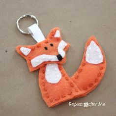 Felt Forest Friends Keychains - Repeat Crafter Me
