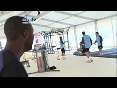 """Looks like Yaya is appreciating the dance moves from """"The Parrish"""" (Tom Parry, Sports Scientist)! Funny video!"""