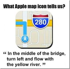 What Apple map icon tells us