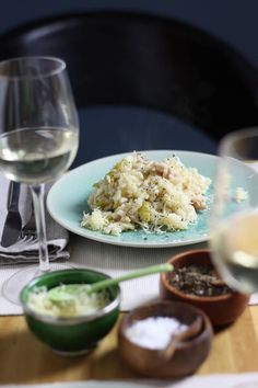 Chicken (or Turkey) and Leek Risotto
