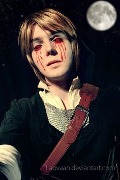 Link Cosplay - Ben Drowned by Laovaan ---- Link and Ben are two separate entities, so it's just a Ben cosplay, but it is awesome.