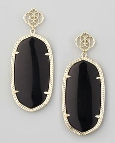 black n gold earrings