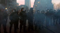 Policías antidisturbios, Frankfurt, 18 de marzo de 2015