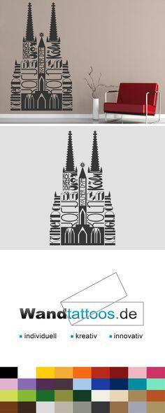 Wandtattoo Kölner Dom   Wanddeko Köln