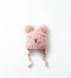 HANDMADE BEAR FACE HAT from Zara