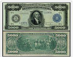 Billete de 5.000 dólares, emitido en 1918