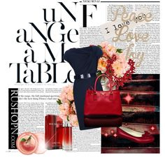 Navy blue dress and red accessories by bellerinas on Polyvore Red Accessories, Navy Blue Dresses, Celebrity Style, Scarves, Purses, My Love, Board, Polyvore, Scarfs