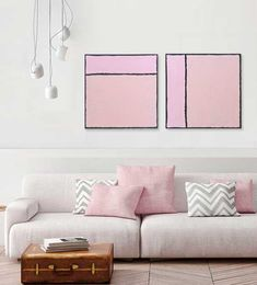 Couch, Living Room, Pink, Furniture, Design, Home Decor, Environment, Modern Paintings, Minimalist Art