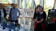 Ken Meany et Beau Cavanagh de l'émission «La Fièvre des encans», avec notre directrice générale Louise Sanfaçon.