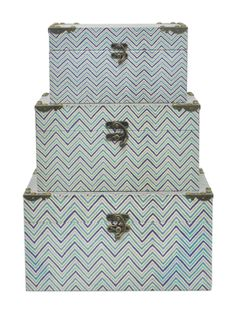 Wood Boxes (Set of 3) from Beach House Style on Gilt