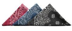 Stonewashed Paisley Handkerchief - Kaufmann Mercantile