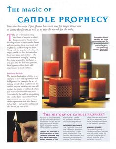 The magic of candle prophecy