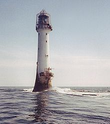 The Bell Rock Lighthouse, off the coast of Angus, Scotland, is the world's oldest surviving sea-washed lighthouse. It was built between 1807 and 1810 by Robert Stevenson on the Bell Rock (also known as Inchcape) in the North Sea Bell Rock Lighthouse, Lighthouse Keeper, Famous Lighthouses, Masonry Work, Lighthouse Pictures, Beacon Of Light, Seven Wonders, North Sea, Le Moulin
