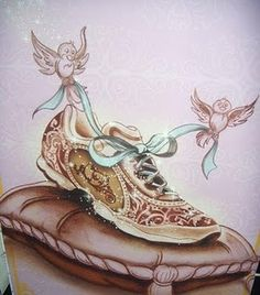 Cinderella's running shoes- Oh my gosh...this is SO Kennedi Christopher!!! (sorry I don't know how to @ tag you, haha)