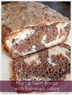 Mocha Swirl Bread with Espresso Glaze at Jam Hands