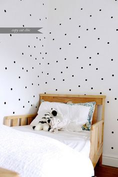 Home: Eleven Cute Polka Dot Ideas  (via Copy Cat Chic: Our Home | Arden's Toddler Room)