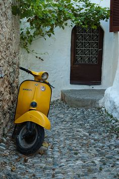 Yellow Vespa -