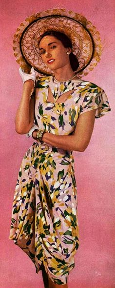 1940s.  Now THIS would be something to wear on Vella la Cava...nice and summery.