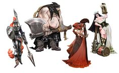B-SIEGED Board game character designs on Behance