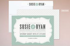 Modern marries vintage in this cute wedding invitation. #nmweddingblog