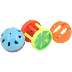 King`s Roll & Ring Foot Parrot Toys - Pack of 3 All three hide a bell inside for added interest and noise! These toys provide endless opportunities to get creative, add your own personal touch just for your parrot. Stuff with crinkle paper or fill with treats, the fun will never end!