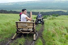 "He's like Santa, he's on a sleigh... but on a ""kalabaw"" sleigh! (Photo from Zac's trip to the Philippines)"