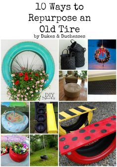 I love seeing old things repurposed into something new and practical … or sometimes even new and impractical.  Old tires are easy to come by and these 10 ways to repurpose an old tire will have you thinking differently about roadside waste!  {You might be asking to keep your old tires the next time you …