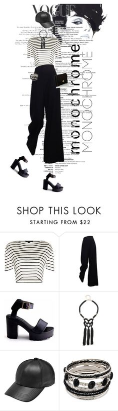 """""""Cheers for the Black and White 2"""" by mikomaws ❤ liked on Polyvore featuring Alexander Wang, The Row, Bebe, Mansur Gavriel and monochrome"""