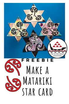 Matariki Star cards are beautiful and easy to make. You and your whānau will have fun making a variety of Matariki Stars to celebrate Māori New Year. Get creative with your stars and write your wishes and goals for the New Year in them. Tribal Tattoos For Men, Cross Tattoo For Men, Tattoos For Guys, Geometric Tattoos, Hawaiian Tribal, Hawaiian Tattoo, Maori Words, Kids Collage, Samoan Tribal