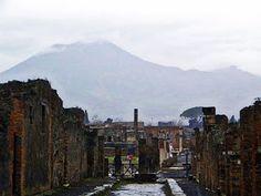 Pompeii#.with Vesuvius in the background