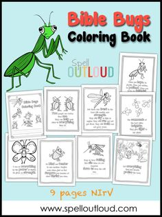 Bible Bugs Scripture Coloring Pages from @maureenspell - these are wonderful printables to send to your sponsored child!