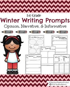 Learning to write is fun and effective with these adorable First Grade Writing Prompts for Winter. Opinion, Narrative and Informative Prompts included. First Grade Writing Prompts, Narrative Writing Prompts, Persuasive Writing, Writing Process, Teaching Writing, Writing Rubrics, Paragraph Writing, Writing Lessons, Writing Practice