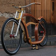 Gus Duncan // Big Woody in Japan // wooden cruiser bicycle. Now, this is truly gorgeous design, a world on wheels. Wooden Bicycle, Wood Bike, Cruiser Bicycle, Motorized Bicycle, Bike Poster, Electric Bicycle, Bicycle Design, Cycling Bikes, Rat Bikes